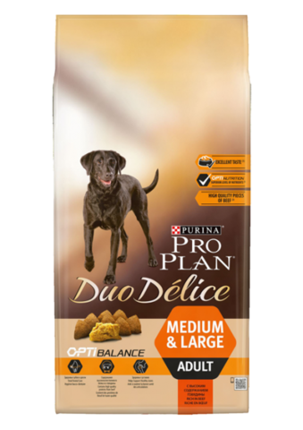 Purina Pro Plan Duo Delice Adult сanine rich in Beef with Rice dry 10 кг