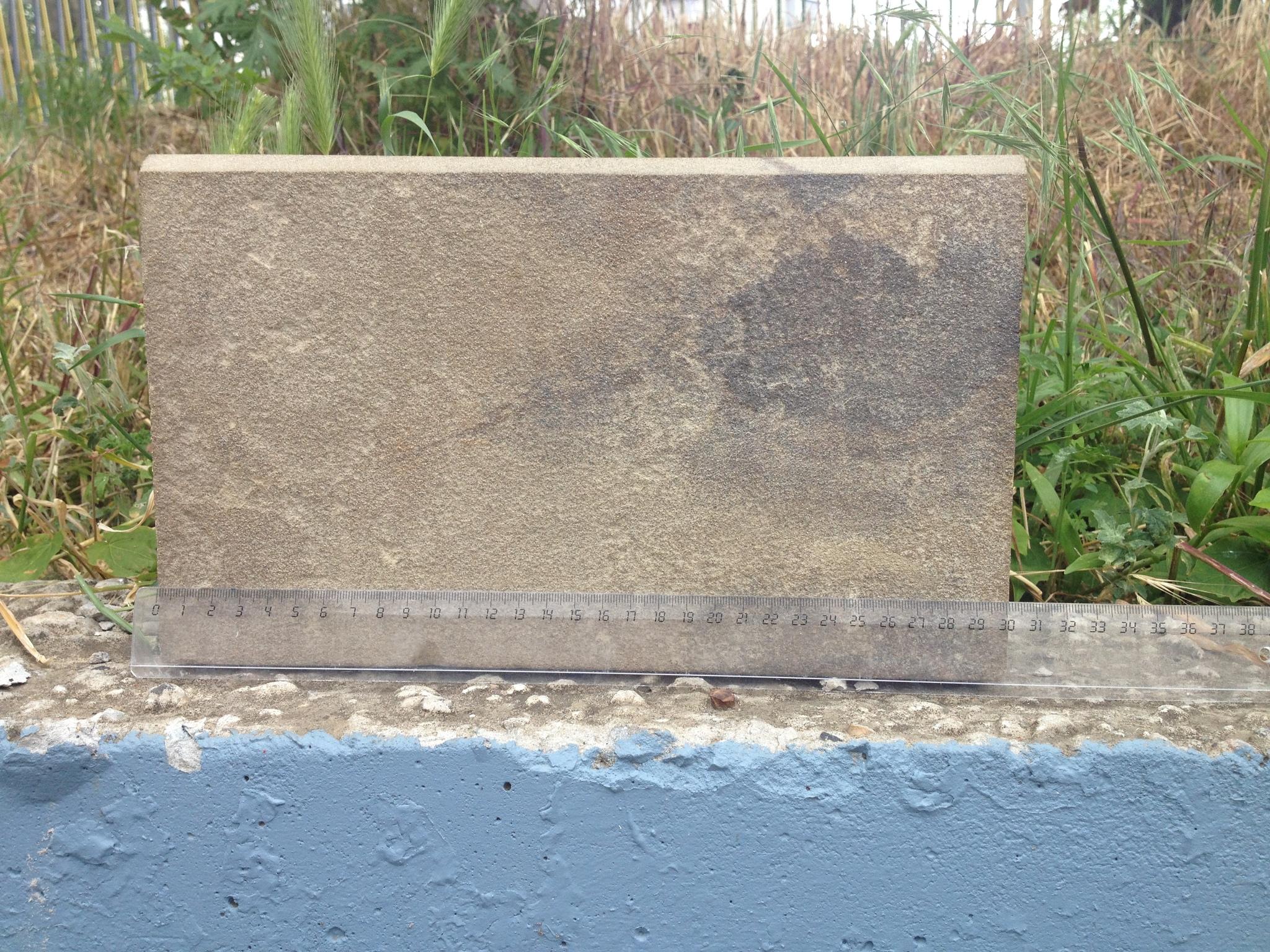 Бортовой камень пиленный с фаской Серый пример