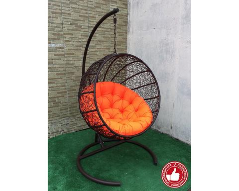 Подвесное кресло Ола коричневое
