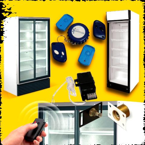 Установка электромагнитных замков на торговые однодверные холодильники