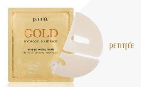 Маска для лица гидрогелевая c ЗОЛОТОМ PETITFEE Gold Hydrogel Mask Pack