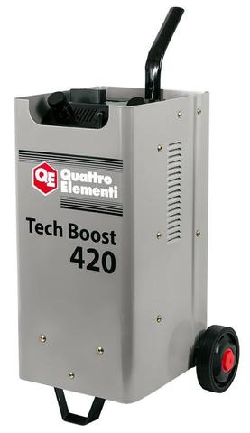 Пуско-зарядное устройство QUATTRO ELEMENTI Tech Boost 420 ( 12 / 24 Вольт, заряд до 75А, п (771-459)