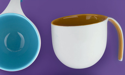 Кружка Asobu The porcelain jewel (0,4 литра), коричневая
