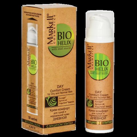 Markell BIO-HELIX Крем-комфорт  с муцином улитки для сухой и норм.кожи дневной 50мл