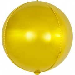 Шар (22''/56 см) Сфера 3D, Золото, 1 шт.
