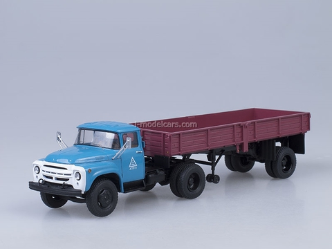 ZIL-130V1 and semitrailer ODAZ-885 dark red Start Scale Models (SSM) 1:43