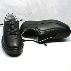 Женские модные туфли кроссовки городской стиль Rozen M-520 All Black.