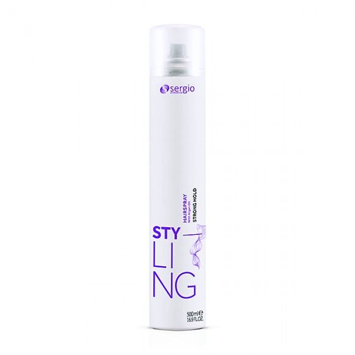 Лак моделирующий Sergio Professional Hairspray Strong Hold сильной фиксации 500 мл