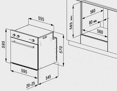 Встраиваемый духовой шкаф Korting OKB 1082 CRI - схема