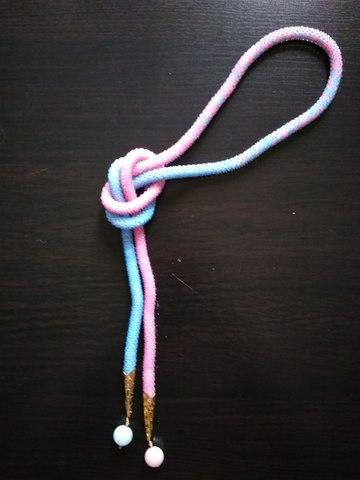 Лариат розово-голубой