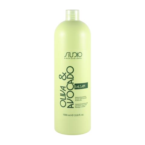 Увлажняющий бальзам для волос с маслами Авокадо и Оливы Kapous, 1000 мл.