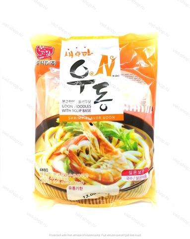 Удон со вкусом креветки Nshrimp Flavor Udon, Корея, 225 гр.