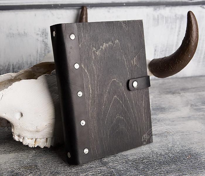 BC126-1 Оригинальный деревянный блокнот ручной работы фото 02