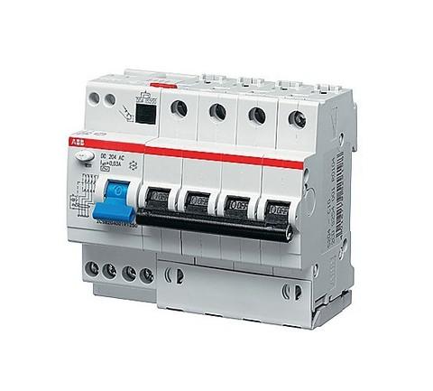 Автоматический выключатель дифференциального тока (АВДТ) DS204 A-C20/0,03 тип A ABB