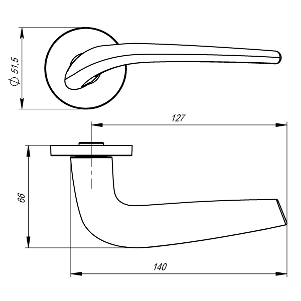 Дверная ручка Armadillo TWIN