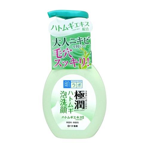 Пенка для умывания против акне Rohto Hada Labo Gokujyun Pores Cleaning Acne Foam 140мл
