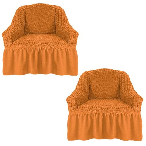 Чехол на два кресла, рыжий
