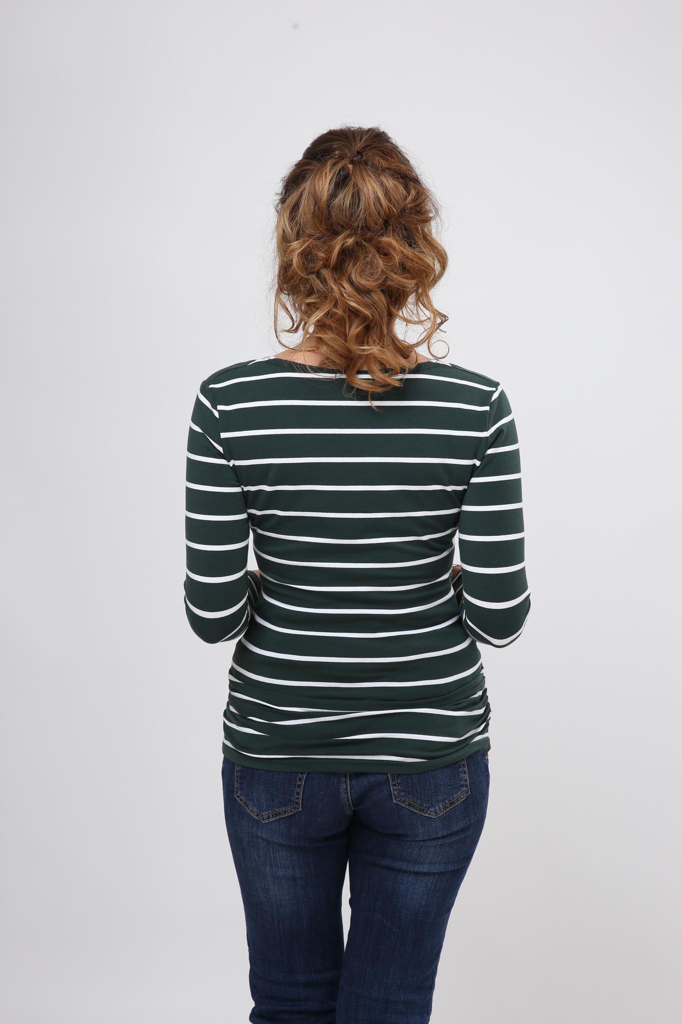 Лонгслив для беременных и кормящих 08916 зеленый