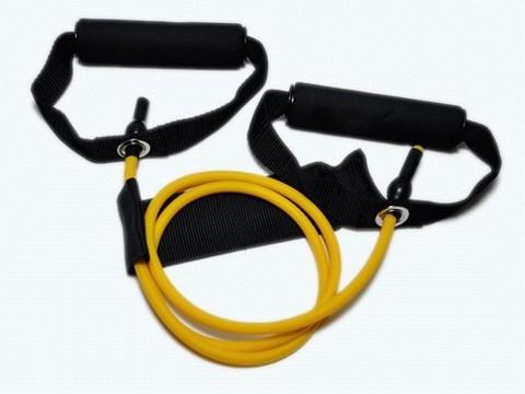 Эспандер латексная трубка с ручками (желтый) 4LB (1,8 кг) :(WX-11):