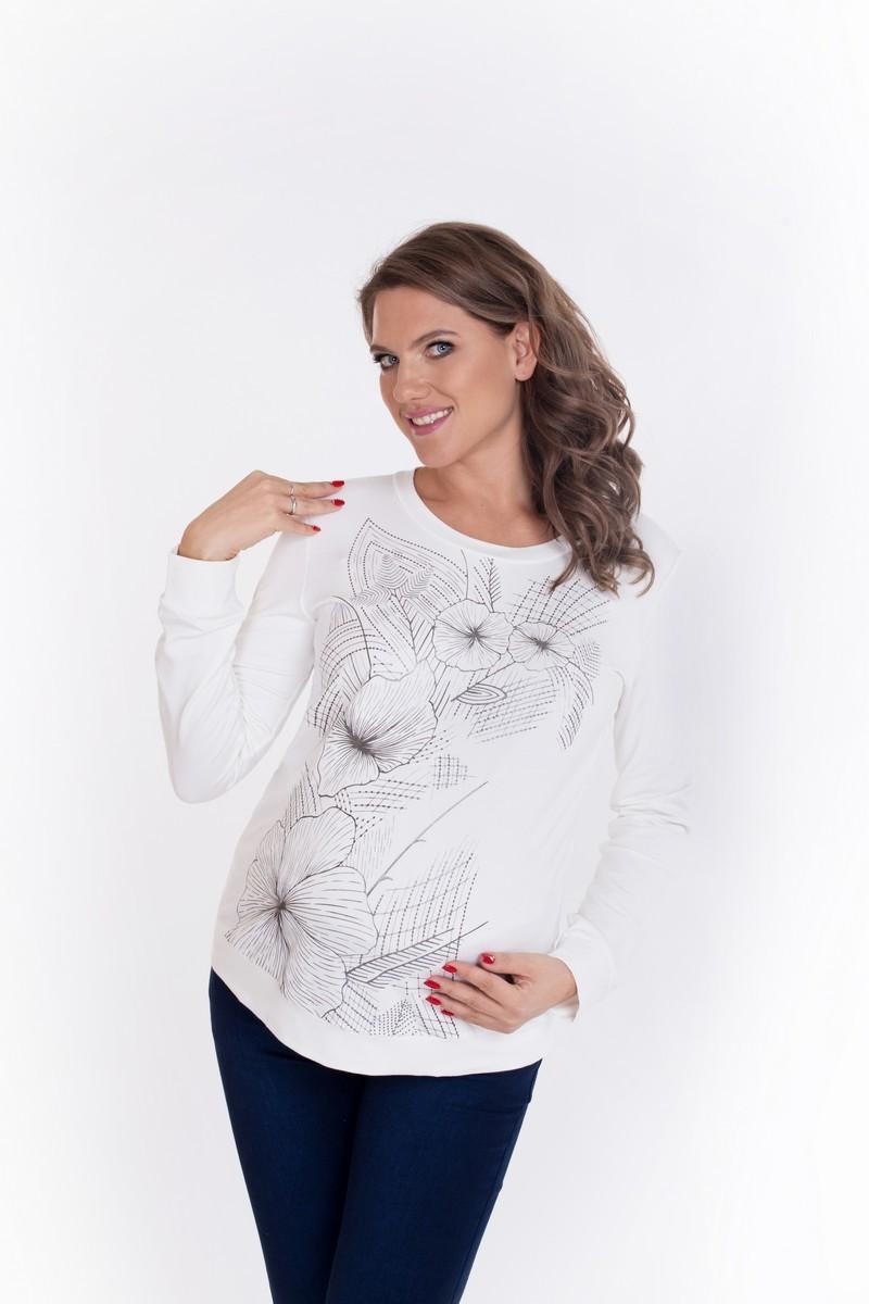 Свитшот для беременных 09007 кремовый