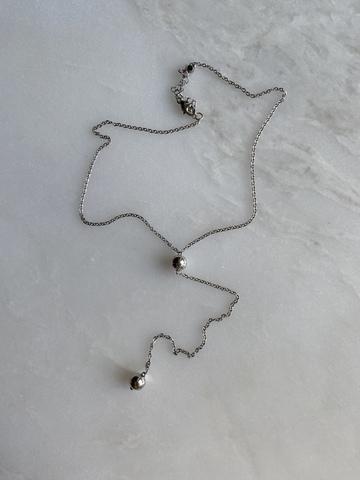 Колье Сати, серебряный цвет