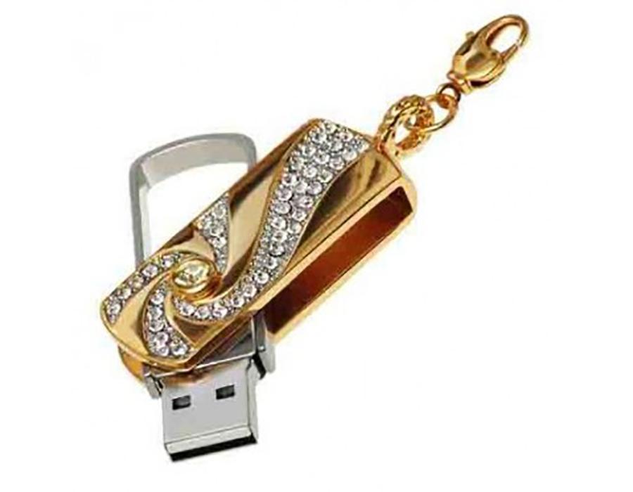 usb-флешка золотой брусок ювелирный