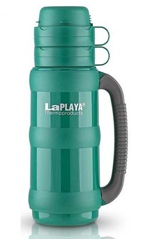 Термос LaPlaya Traditional 35-180 (1,8 литра) со стеклянной колбой, зеленый