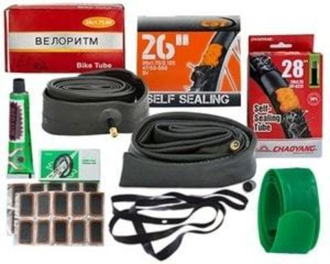 Купити камери, фліппер і ремкомплект для велосипедних камер