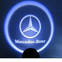 Проекторы в двери Mercedes-Benz