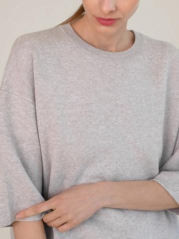 Женский джемпер песочного цвета из вискозы - фото 3