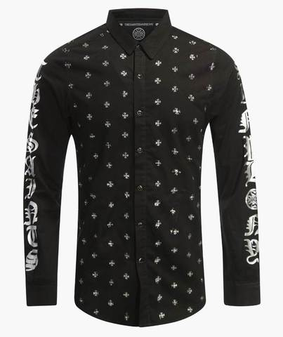 Рубашка The Saints Sinphony BULLETPROOF BUTTON UP SILVER