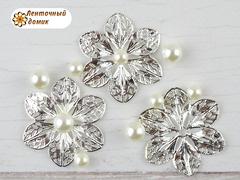 Филигрань Цветок серебряный