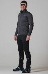 Утеплённый лыжный костюм Nordski Motion Graphite с высокой спинкой мужской
