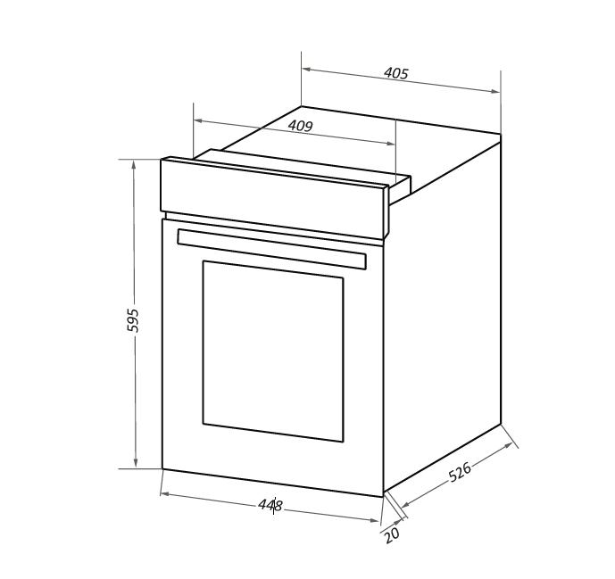 Электрический независимый духовой шкаф Maunfeld EOEC516B