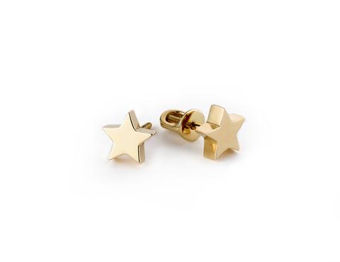Пуссеты Звезды, позолоченное серебро