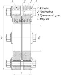 ИФС-250-16 двухфланцевое исп.2 схема
