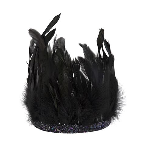 Корона из перьев, чёрная