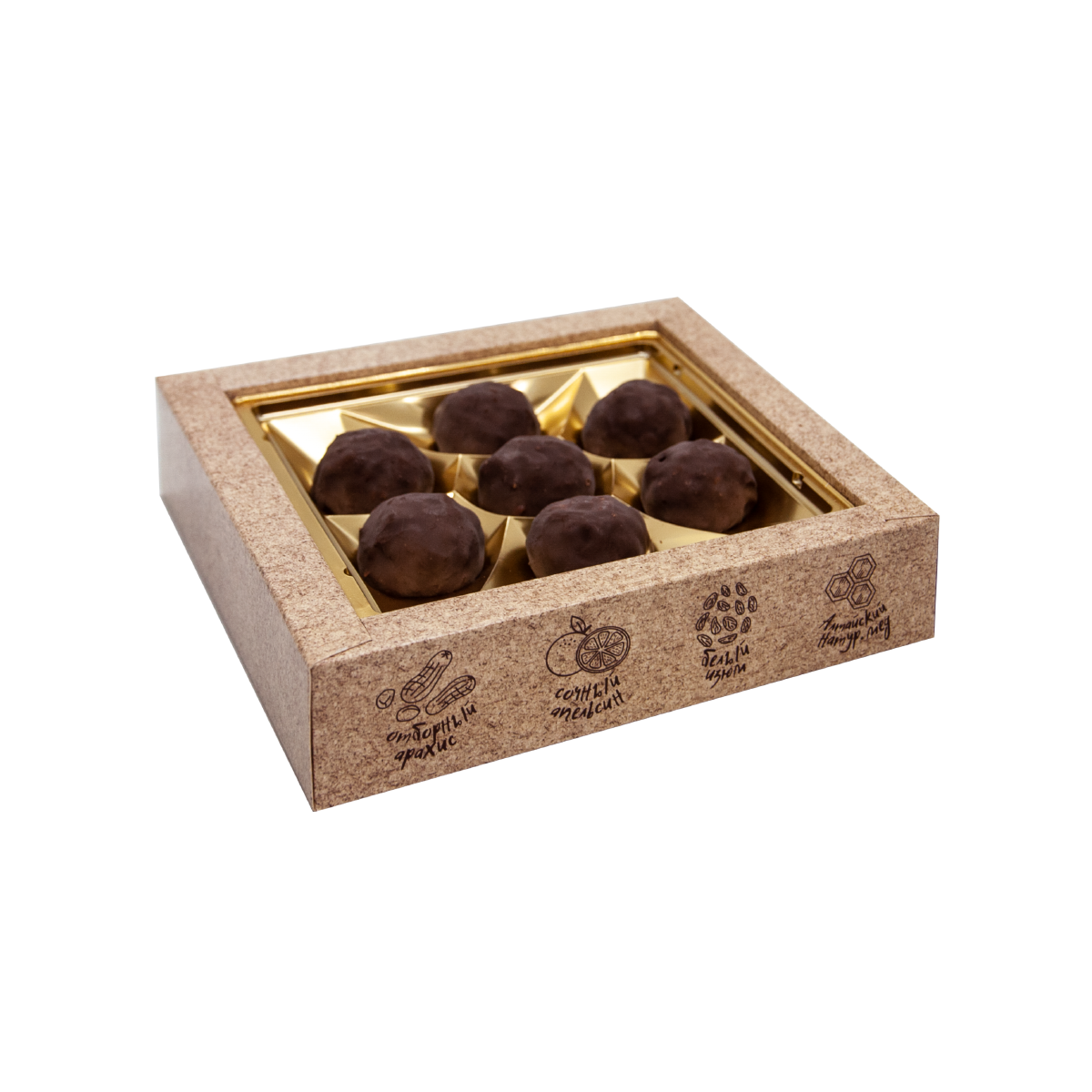 Грильяж с кедровым орехом в шоколадной глазури Galagancha 135 г