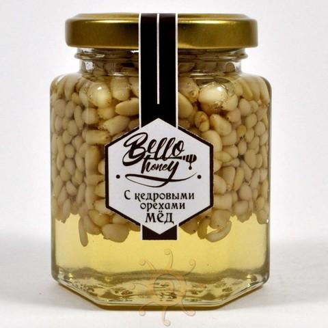 Кедровые орехи в акациевом меду BelloHoney, 220г