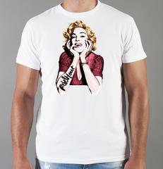 Футболка с принтом Мадонна (Madonna) белая 004