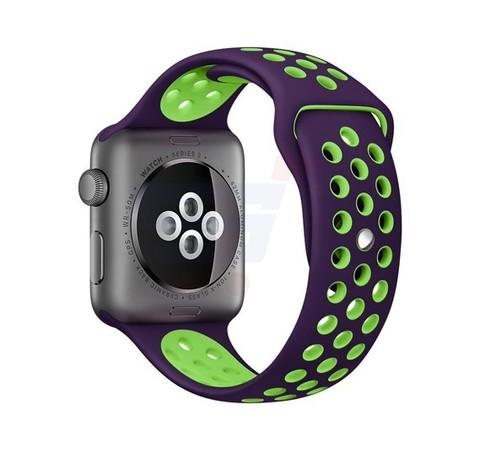 Ремешок Apple watch 42/44mm Sport Nike /purple green/ фиолетовый салатовый