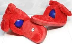 Домашние шлепанцы красные женские Yes Mile A-08 Red Bow.
