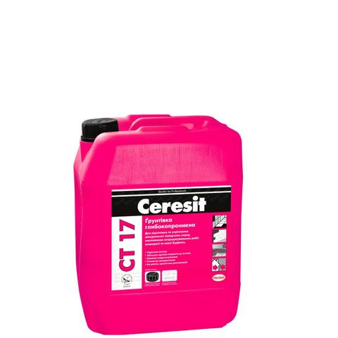 Грунтовка Ceresit CT 17 глубоко-проникающая 5 л.