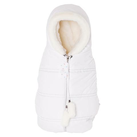 Конверт кокон для новорожденных Lollycottons белый