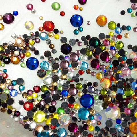 Стразы SS3-30 микс 20 цветов 1000 шт (хрусталь)