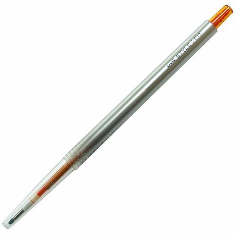Гелевая ручка 0,5 мм Uni Style Fit - Orange - оранжевые чернила