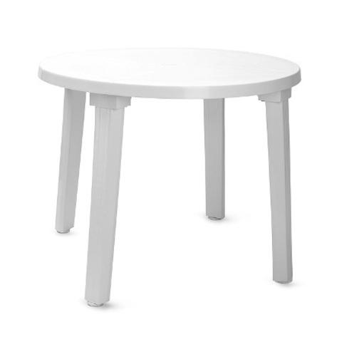 Пластиковый стол круглый белый