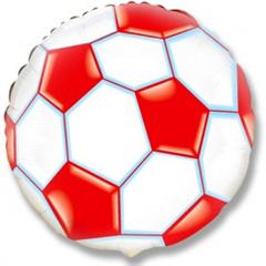 Шар F (18''/46 см) Круг  Футбольный мяч (фуксия) / Soccer Ball, 1 шт.