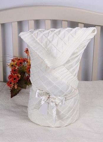 Конверт-одеяло Вязка айвори
