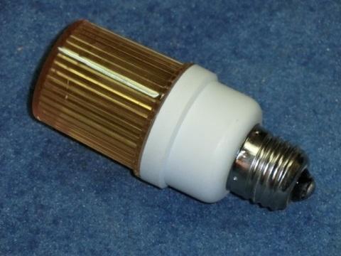Строб лампа ксеноновая желтая Е27